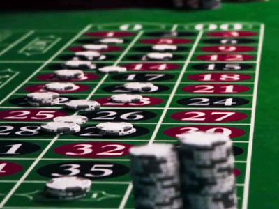 Betting Chips  on Roulette Table