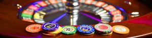 Roulette Betting chips on the side